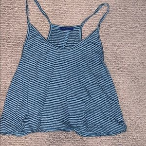 Blue tank with open back